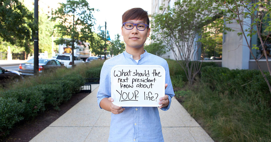 Wei Quan during his internship at NPR.