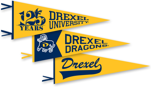 Pennants with anniversary logos