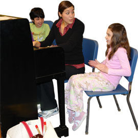 People playing piano