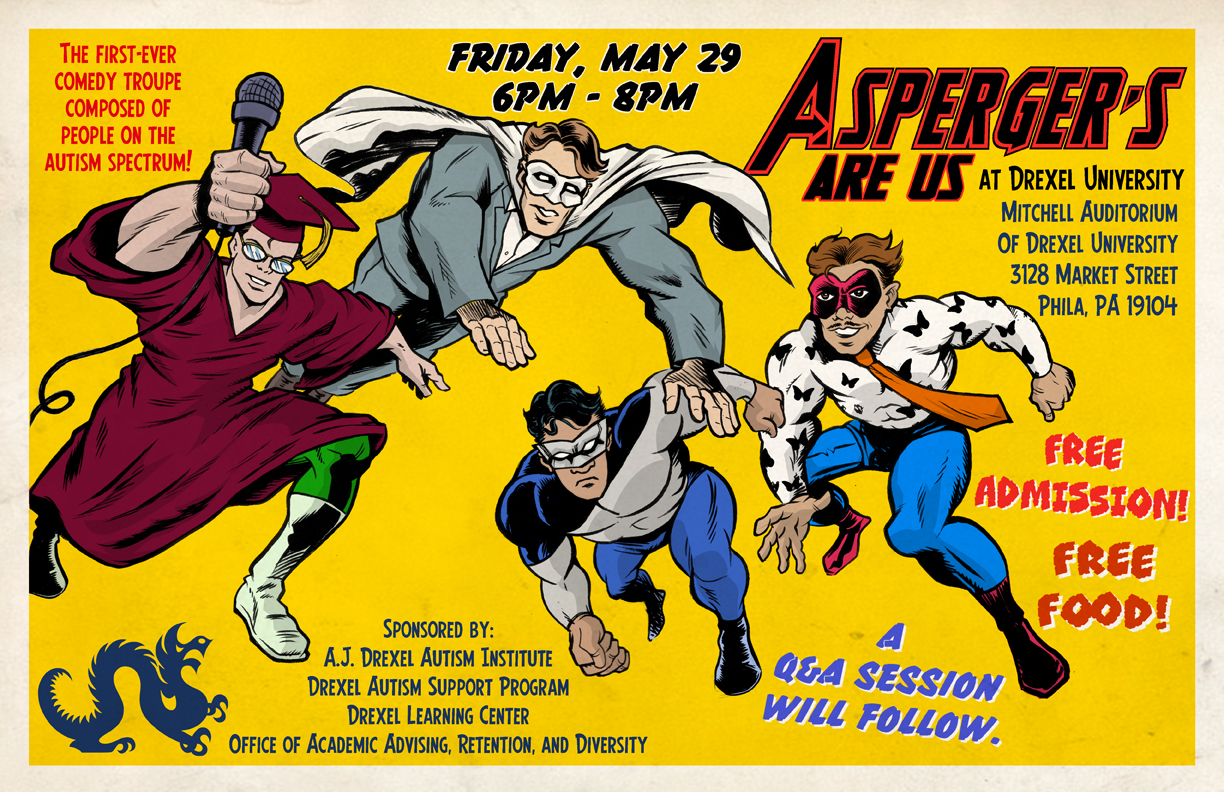Asperger's Are Us Comedy Night poster