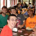 Students in the dining hall at DESLA 2013