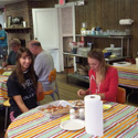 Students at breakfast in Barnegat Bay