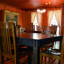 The dining room in the Lodge.