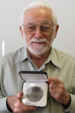 Dr. Dov Jaron with Medal