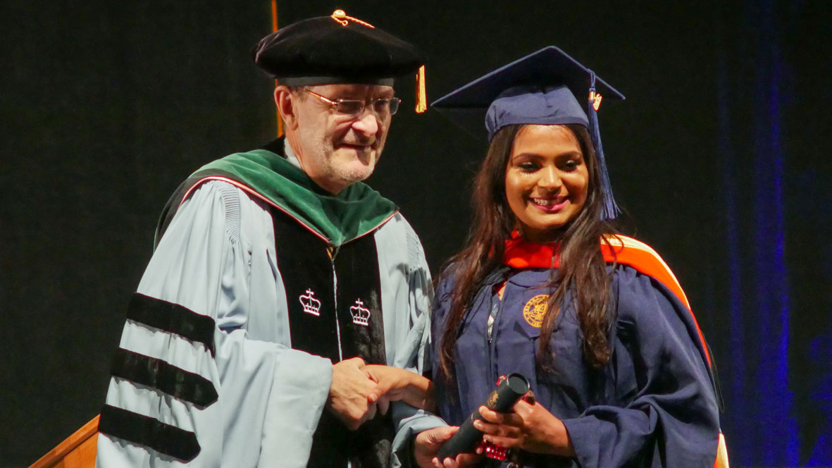 MS Student receives Drexel degree at graduation
