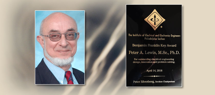 Peter Lewin Awarded Benjamin Franklin Key Award