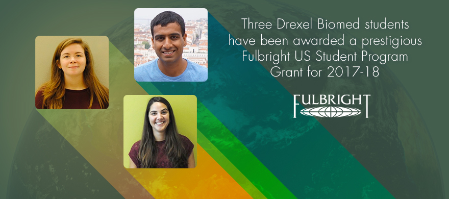 Three Biomed students awarded Fulbright Grants 2017-18
