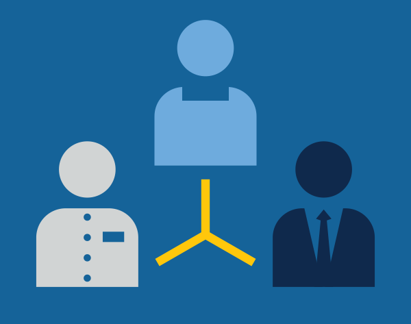 Human Resources icon - illustration of 3 people