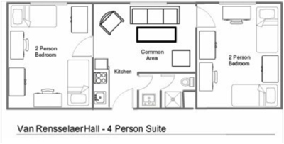 Van Rensselaer Hall - 4 Person Suite