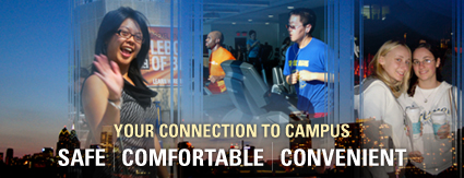 Your Connection to Campus. Safe, Comfortable, Convenient