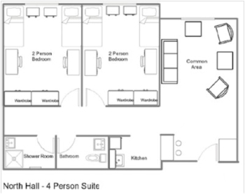 North Hall 4-Person Suite