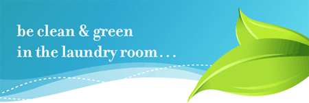 Be clean & green in the laundry room