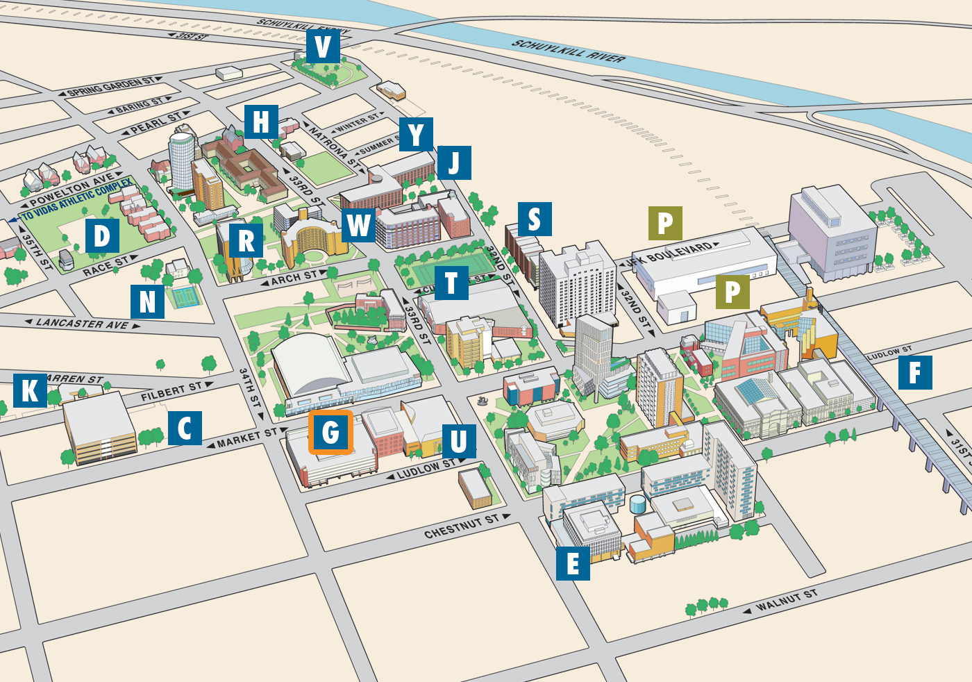Parking map campus services for Location parking