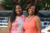 Candace Young (College of Engineering) and her mother Gerri (College of Computing & Informatics) will graduate together Saturday.