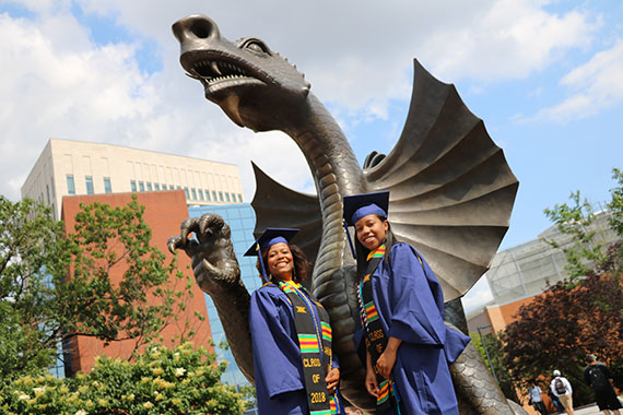 CCI student Gerri Young and her daughter, Candace Young (College of Engineering), will be graduating together at Drexel's 2018 commencement ceremony.