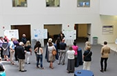 REThink at Drexel University participant Omar Ali presents his research to a crowd at the August 3 showcase.
