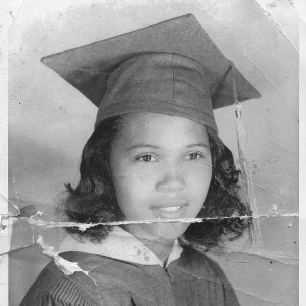 Barbara Johns in a high school graduation photo from 1952. Credit via Moton Museum