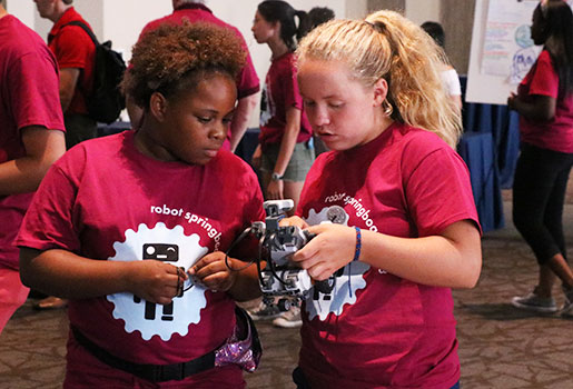 Robot Springboard camp for middle school girls