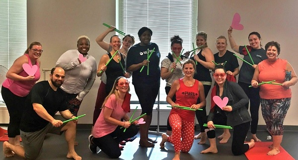 Kym Montgomery, DNP with her fitness class