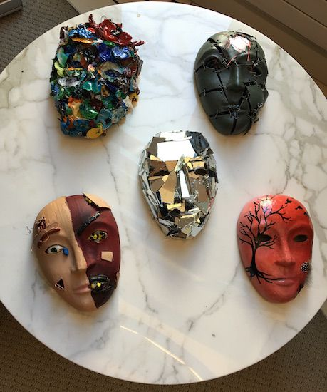 Active-duty service members' masks