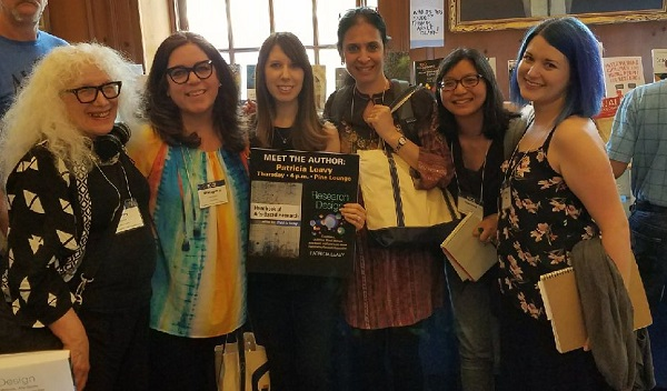 Creative arts therapies faculty member, Nancy Gerber, PhD and students at the Fourteenth International Congress of Qualitative Inquiry