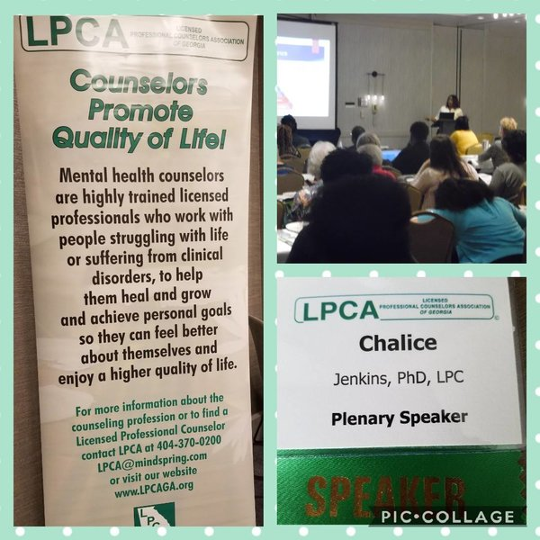 Chalice Jenkins presents at LPCA Conference