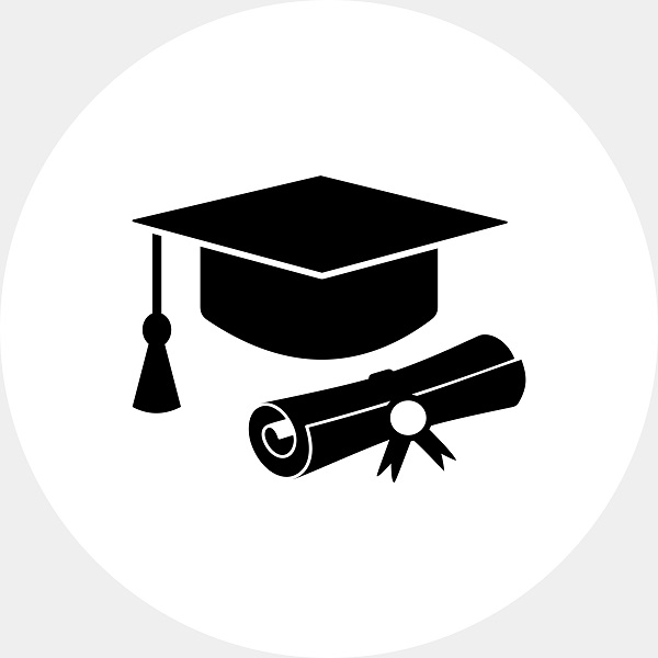 Illustration of cap and diploma