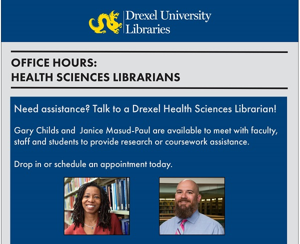 Fall 2018 health sciences library flyer
