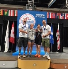 Health Sciences Academic Advisor Rob Lee at World Masters Weightlifting Championship 2019