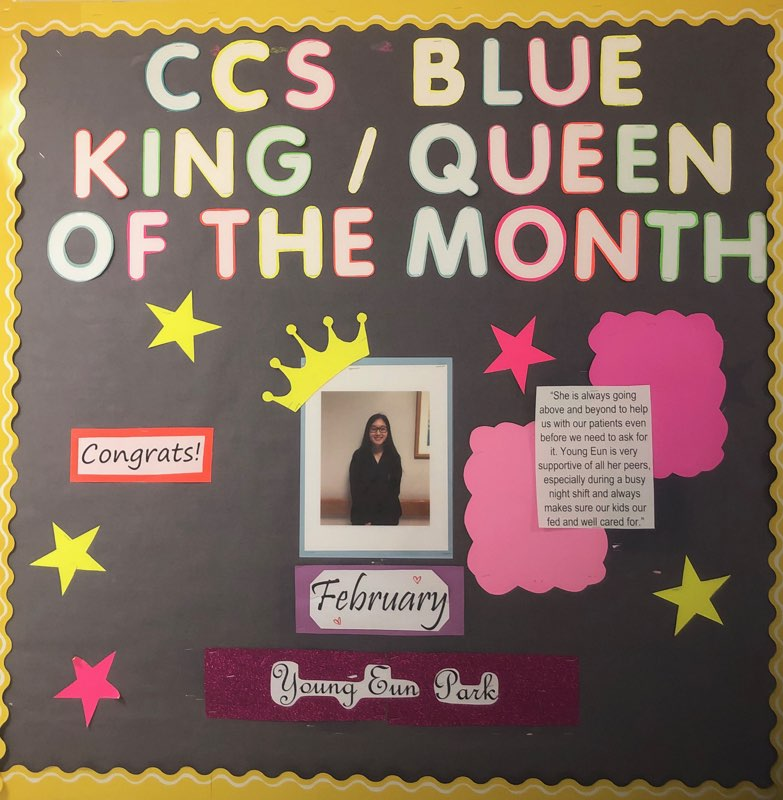 Co-op nursing student Young Eun is Queen of the Month at CHOP