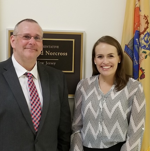 Nutrition Sciences PhD candidate, Dan Dychtwald, MPH and Representative Donald Norcross Staffer