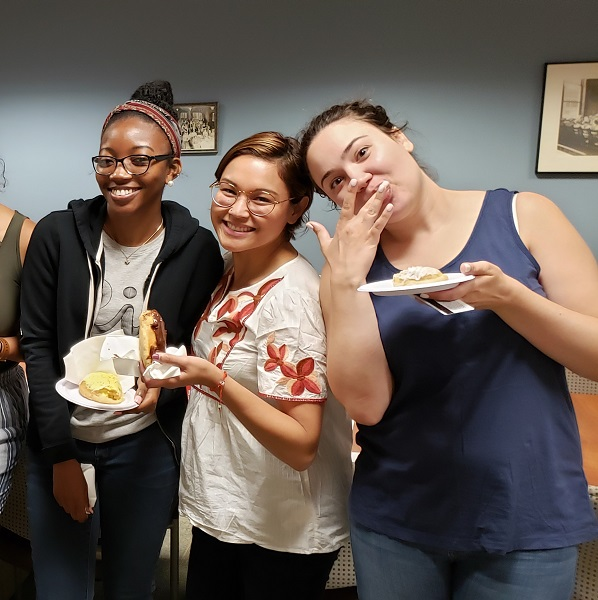 CNHP staff enjoying National Donut Day