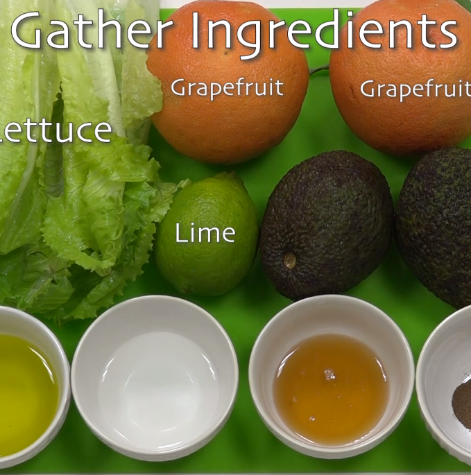 Photo of salad ingredients