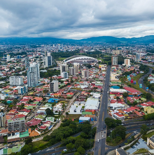 Aerial photo of San Jose, Costa Rica