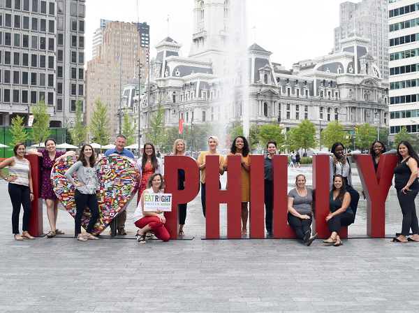 EAT RIGHT PHILLY team of 16 in Love Park