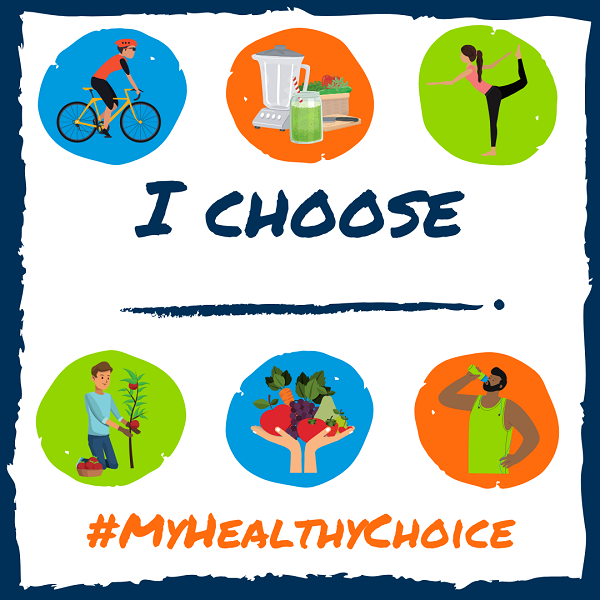 EAT RIGHT PHILLY graphic for #MyHealthyChoice campaign