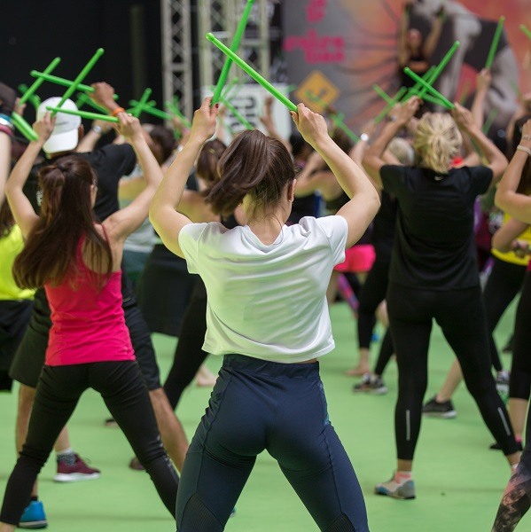 POUND Fitness Workout -  Exercises with Music and Green Drum Sticks