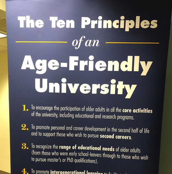 Poster of the Ten Principles of an Age-Friendly University