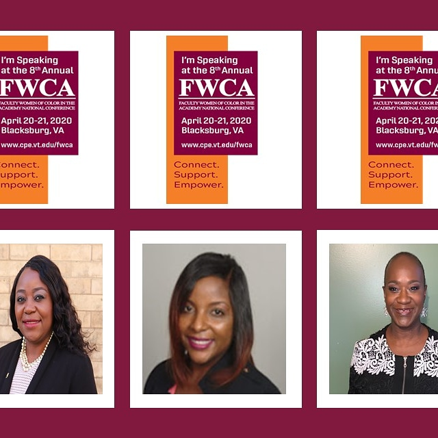 Graphic for FWCA conference with photo of speakers