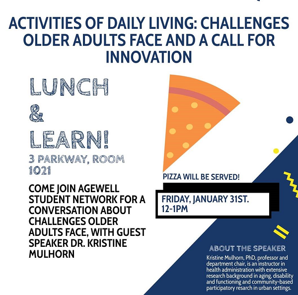 Poster with Lunch and Learn information