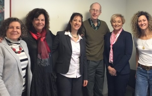 Pictured from left to right: Dr. Beth Chiatti, Dr. Joan Bloch, Dr. Yosefa Birati, Dr. Ed Gracely, Dr. Amy McKeever and Dr. Brandy-Joe Milliron