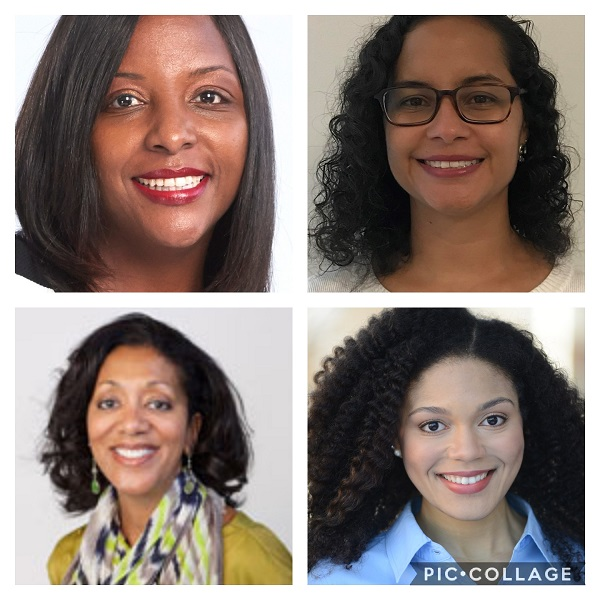 Chalice Rhodes, Ph.D, LPC, NCC, Lisa Lanza, MPH, RD, LDN, CLC, Veronica Carey, PhD, CPRP, and Rachel DeLauder, a Dance/Movement Therapy & Counseling master's candidate