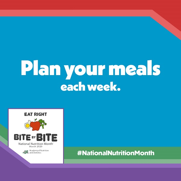 National Nutrition Month Bite by Bite Tip #2 Graphic