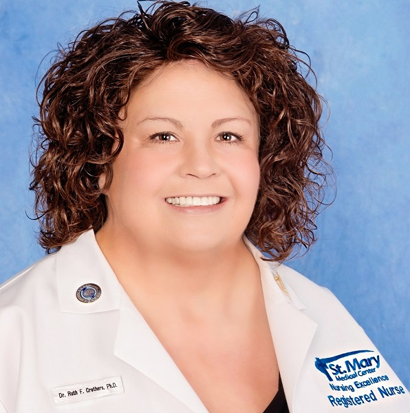 Ruth Crothers, PhD, RN-BC, AGCNS-BC, CNOR, adjunct faculty in the Online BSN Degree Completion Program
