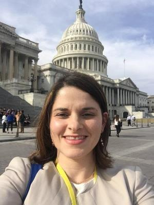 Angela Colistra, PhD at the Capitol building in Washington D.C.