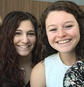 Drexel undergrad students Valerie Iovine and Lauren Certo