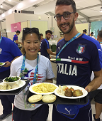 Drexel nutrition intern Leah Tsui at the World University Games