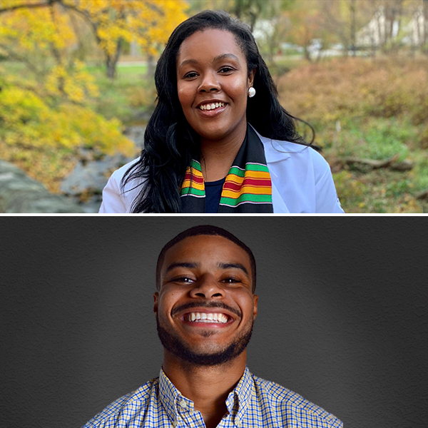 Certified physician assistants and Drexel College of Nursing and Health Professions alumni Lena Ward '19 and Brandon Cherry '19 are taking over as host of the JAAPA podcast