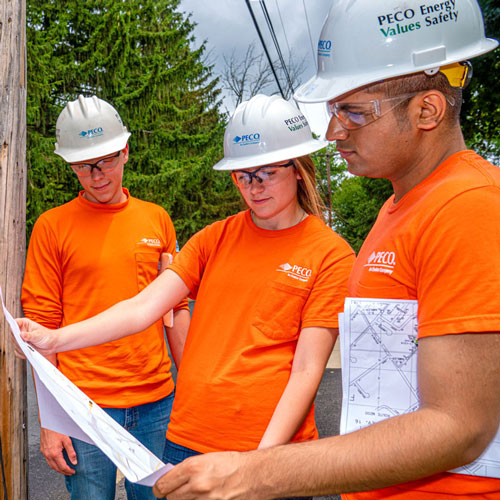 PECO Energy co-op students