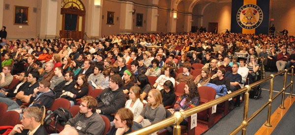 Crowd at the K. Lecture